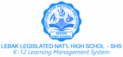Lebak Legislated National High School SHS - LMS